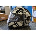 Box Helmet - White & Black